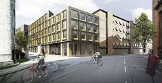 Commercial and retail building in Carlsberg City, Copenhagen, by C.F. Møller Architects.