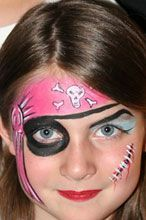 Miss Pirate face paint Pirate Face Paintings, Halloween Make Up, Halloween Face Makeup, Pirate Kids, Girl Pirates, Fantasias Halloween, Kids Dress Up, Kids Makeup, Face Painting Designs