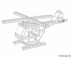 printable lego helicopter coloring page - Printable Coloring Pages For Kids