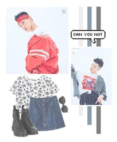 """""""Ten"""" by lazy-alien ❤ liked on Polyvore featuring WithChic, Dr. Martens, ten, nctu and ChittaphonLeechaiyapornkul"""