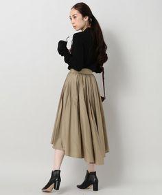 Spick and Span Noble(ノーブル)のタイプライタータックギャザースカート◆(スカート)|詳細画像