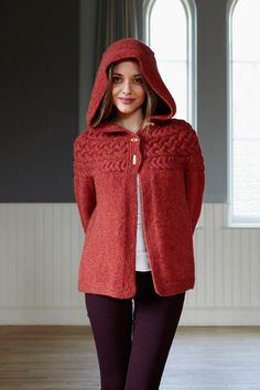 Cotton & Cloud - Cable Yoke Jacket for Adult | Original Knitting Patterns | Top-down Knitting