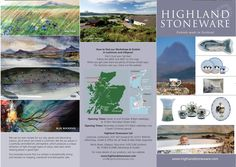 Highland Stoneware leaflet - in conjunction with The Cheryl Hopkins Consultancy http://www.cherylhopkins.co.uk/