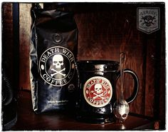 Death Wish Coffee & Skull Spoon