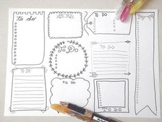 to do lists boxes journal printable planner bullet journal