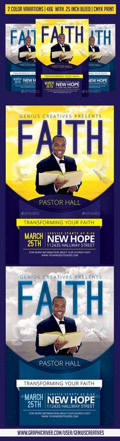 Faith Church #Flyer - Church Flyers Download here: https://graphicriver.net/item/faith-church-flyer/19716162?ref=alena994