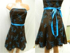 Size Small Brown Dress w/ Blue Sash from Jessica McClintock Our Price - 19.99 August 2014