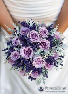 Wedding bouquet ideas - Lilac roses - Wedding Flowers, Centrepieces, Decorations, Winter Flowers || Colin Cowie Weddings