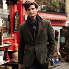 Harris tweed classic fit jacket | Men's blazers & jackets from Charles Tyrwhitt, Jermyn Street, London