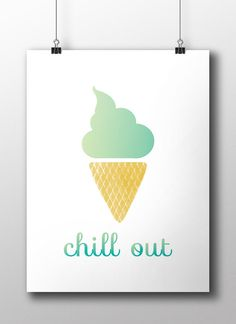 Chill out - poster design, DIY poster, printable art, INSTANT DOWNLOAD,Printable art wall decor, qoutes