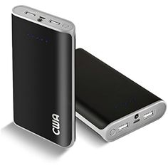 Portable Charger, CWA 20000 mAh Power Bank USB External Battery Pack Backup Dual Port Flashlight iPhone 6/6 Plus/SE/5/5S/5C/4S/4/3, iPad Retina, iPod, Samsung Galaxy S7 S6 Edge Tab Note (Gray) -- Click on the image for additional details. (This is an affiliate link) #Accessories