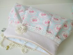 rose and lace clutch...so girlie