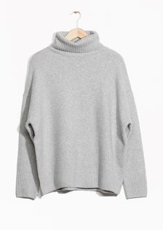 & Other Stories image 1 of High Neck Sweater in Grey