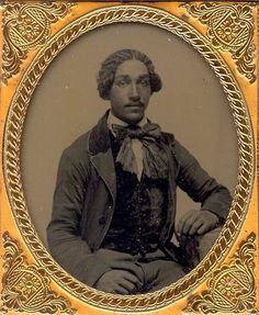 (c.1850s) Young Gentleman, possibly of mixed race.