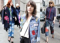 The Trend: Patchwork Denim. This is one of those retread fashion trends that I'm definitely too old to put on a second time around.