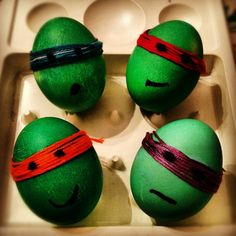 Teenage Mutant Ninja Turtles Easter eggs--someone's creative!