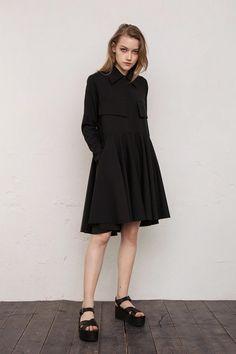 1f3b6ba4187 Formal dress   Dress   Black dress   Shirt dress   Lolita dress   Mini dress    Gift for her   Goth   Party dress  Babydoll dress