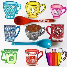 ❤Which is your favorite Social Mug!!?❤ Follow us! @dailyart ️Beautiful art by @cfnatycf Tag your friends!#dailyart