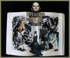DRACULA - For all my blood-thirsty followers here is another book sculpture of Dracula. I had so many special requests lately that it ...