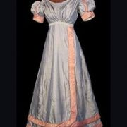 Fashion Timeline : 1820 to 1830  As the Romantic era arrived, clothing became more complex and increasingly structured. The previous design simplicity was replaced with decorative excess. Horizontal hem treatments added focus to skirts. Wide lapels created shoulder emphasis and the sleeves and shoulders were further emphasized with extended wings. Surface ornamentation, color and print positively abounded.