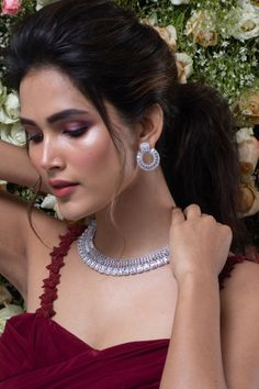 Delicate, classic, and ultra luxurious- Arusha CZ necklace set is not one to miss. Stand out from the crowd with this beautiful and charming necklace set. It is meticulously crafted with premium quality emerald cut and baguettes CZ stones. This summer, set the trend with this CZ necklace set. Long Red Hair, Arusha, Jewelry Necklaces, Jewellery, Summer Set, Cz Stones, Happy Moments, Summer Jewelry, Emerald Cut