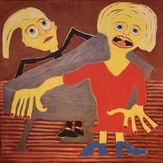 Lieder Singer/Maarit Korhonen, acrylic, oilsticks, canvas, 89cm x 89cm Music Painting, Online Painting, Original Art For Sale, Original Music, Dark Paintings, Original Paintings, Dancer In The Dark, Autumn Painting, Figurative Art