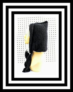 Black Knitted Hat Womens Hat Knit Pixie Hat Black Hat Crochet Winter Hat DESERT Pixie Hat by strawberrycouture on Etsy  Black Knitted Hat Womens Hat Knit Pixie Hat Black Hat Crochet Winter Hat DESERT Pixie Hat 45.00 USD by #strawberrycouture on #Etsy  MUST SEE! http://ift.tt/1MlhoXF (Unique Womens Crochet & Knit Hats Scarves Patterns) Strawberry Couture on Etsy is about having fun with a crochet hook and knitting needles for women to wear unique crochet & knit hats scarf & written patterns…