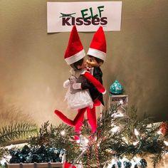 Elf on the shelf. Christmas Ribbon, Christmas Crafts, Christmas Ideas, Merry Christmas, Xmas, Elf On The Self, The Elf, Elf Toy, Awesome Elf On The Shelf Ideas