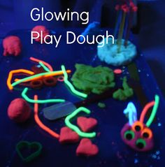 Glowing Play Dough - Two Big Two Little
