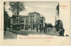 Königsberg, Haupt- und Tiergartenstraßenecke auf den Mittelhufen