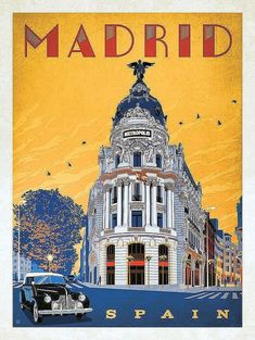 Vintage travel poster Madrid (Spain)