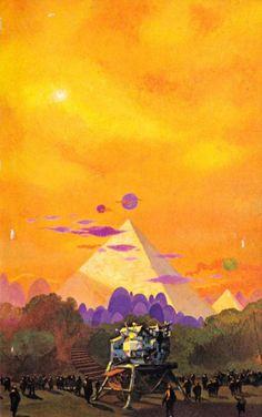 Art by Paul Lehr for Three Trips in Time and Space by Niven Vance Brunner (Dell October 08 2018 at Fantasy Landscape, Fantasy Art, Sci Fi Kunst, Science Fiction Kunst, 70s Sci Fi Art, Fantasy Places, Art Pages, Art Tutorials, Vintage Posters