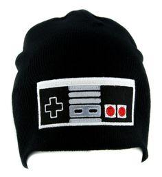 NES Classic Nintendo Game Controller Beanie Alternative Style Clothing Knit Cap  #patch #cosplay #blackmetal #baseballcap #hat
