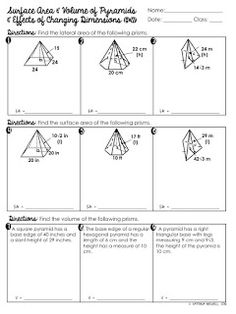 free surface area volume of triangular prisms worksheet geometry worksheets pinterest of. Black Bedroom Furniture Sets. Home Design Ideas
