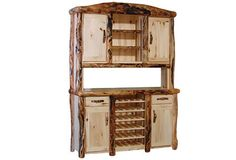Bar Buffet and Hutch in Flat Front (60″W)
