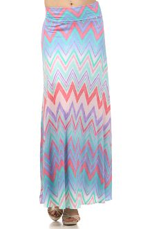 Multi Color Chevron Maxi Skirt  $28
