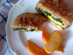 HEALTHY Make-Ahead-And-Freeze Breakfast Sandwich! Make 12 at a time.. full of veggies, protein, and complex carbs! Read recipe for complete description of how to avoid sogginess when reheating!