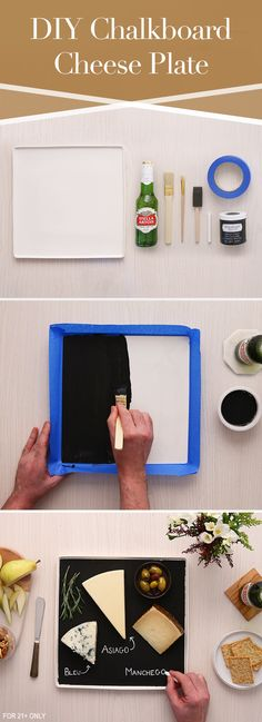 The mild malt and light hops of Stella Artois makes it a perfect pairing for many cheeses. Serve your spread with style using this simple DIY hosting trick. Use chalkboard paint on square, white flatware to allow for customized labeling. Then let guests know what type of local cheese you'll be serving. We recommend Asiago, bleu or Manchego.