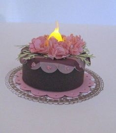Tealight Cake by Sweet Irene - Cards and Paper Crafts at Splitcoaststampers
