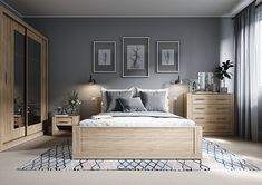 Home Decor Bedroom The stylish simple design is the perfect storage solution for your modern home requirements.Home Decor Bedroom The stylish simple design is the perfect storage solution for your modern home requirements. Grey Bedroom Furniture, Home Decor Bedroom, Wood Furniture, Furniture Sets, Small Bedroom Interior, Small Bedroom Designs, Wood Bedroom, Interior Walls, Luxury Furniture