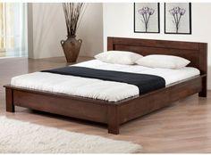 Bed Frame Headboard Full Size Platform European Style Flair Bedroom Hardwood…
