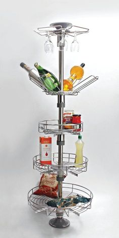 Kitchen Worktop Pole Storage System