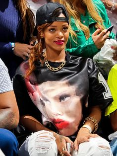 Rihanna      Miami Heat vs. Milwaukee Bucks   Game One of the Eastern Conference Quarterfinals   April 21, 2013 at American Airlines Arena in Miami