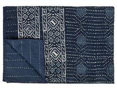 vintage kantha quilt for end of bed