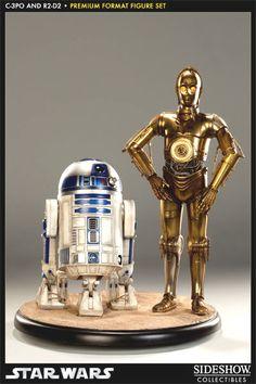 """Premium Format """"C-3PO & R2-D2"""" By Sideshow"""