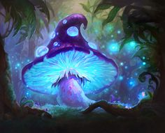 ArtStation - Hearthstone Card: Evolving Spores, Grace Liu