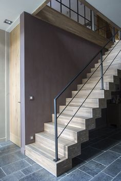 New Staircase with simple balustrade design Outdoor Handrail, Staircase Handrail, New Staircase, Stair Railing, Patio Stairs, Concrete Stairs, House Stairs, Interior Stairs, Interior Design Living Room