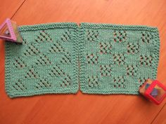 Free+Knitting+Pattern+-+Dishcloths+&+Washcloths+:+Squares+Cloth