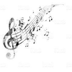 Notas musicais de fundo vetor e ilustração royalty-free royalty-free
