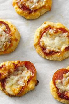 Canned Biscuit Recipes Create mini pizzas with Pillsbury refrigerated biscuits and your favorite toppings!